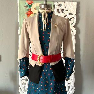 Modcloth   art&co. open front blazer no lapels M